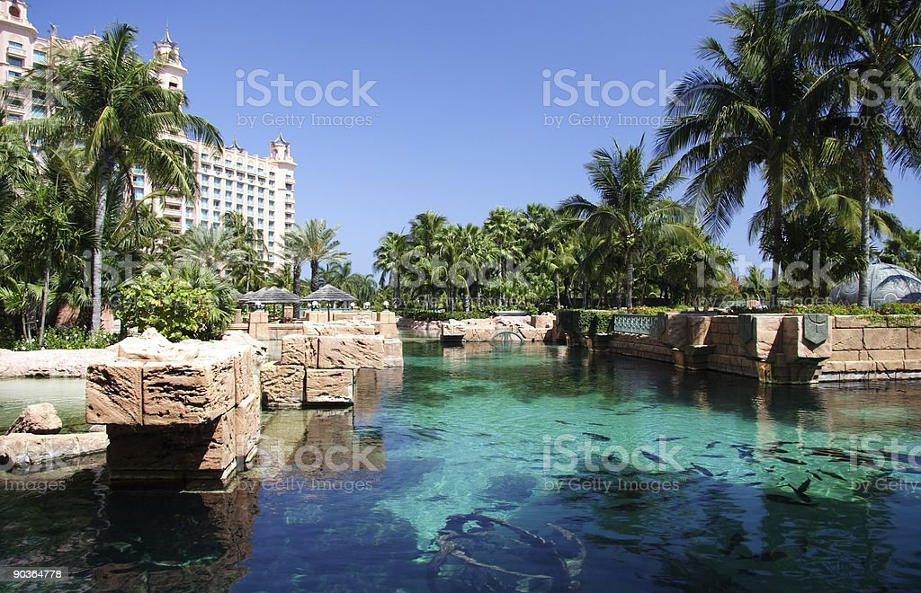 Tropical Hotel Resort  royalty-free stock photo