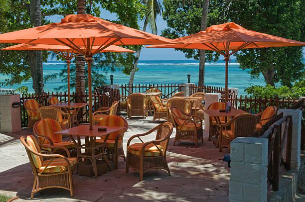 Tropical indian Ocean Terrace kenya stock photo