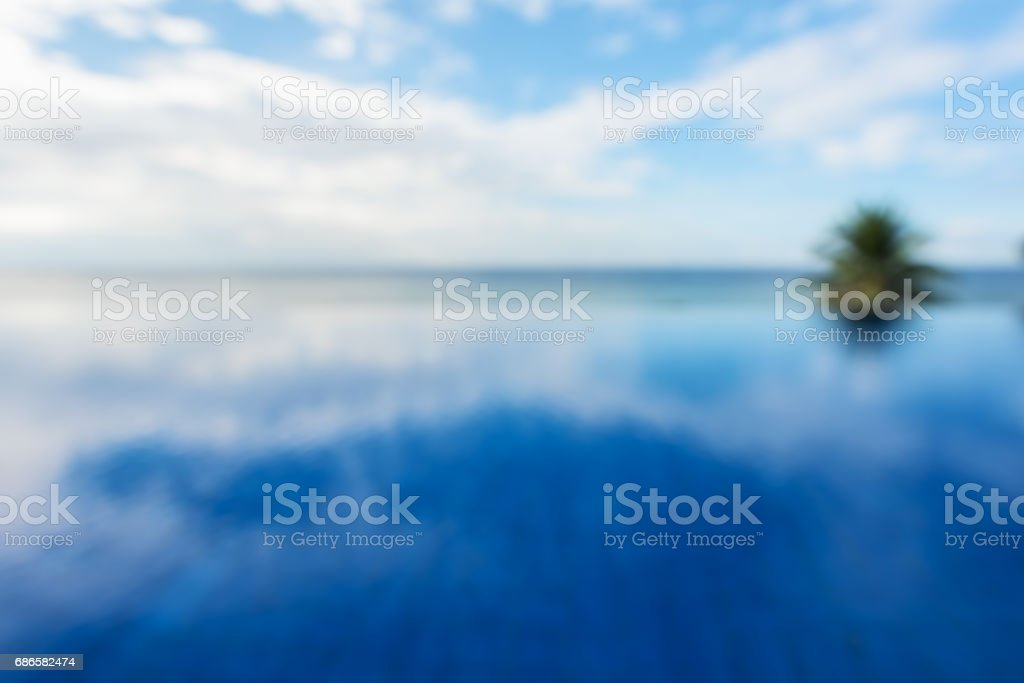 Tropical infinity pool blurred abstract background 免版稅 stock photo