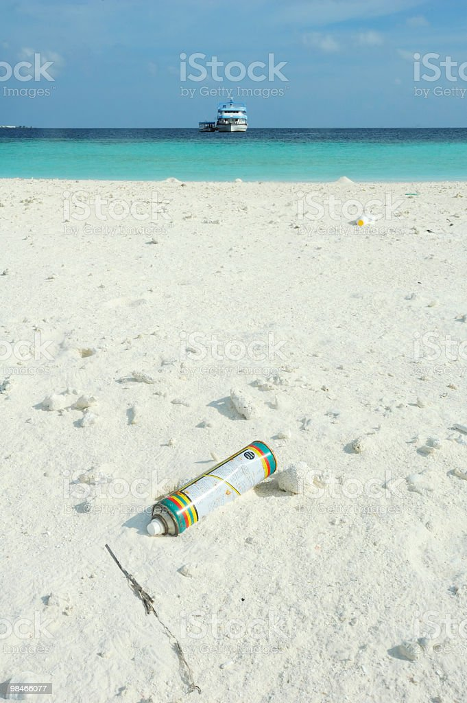 Tropical Island Aerosol royalty-free stock photo