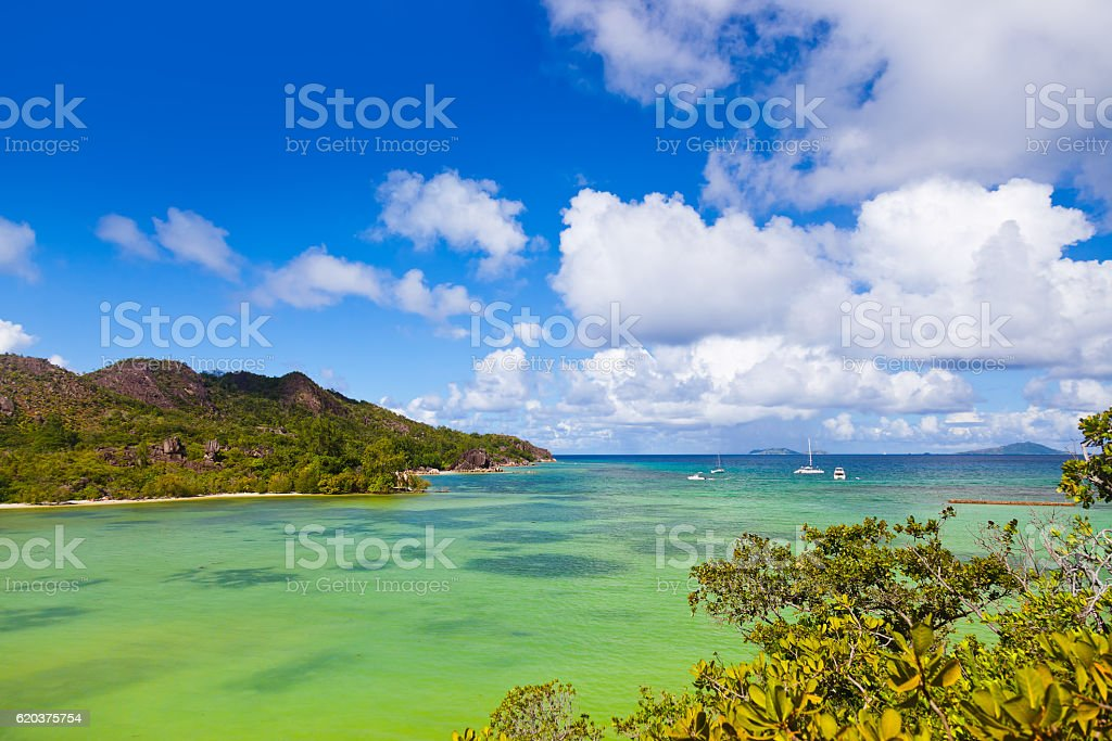 Tropikalna Wyspa na Seszele zbiór zdjęć royalty-free