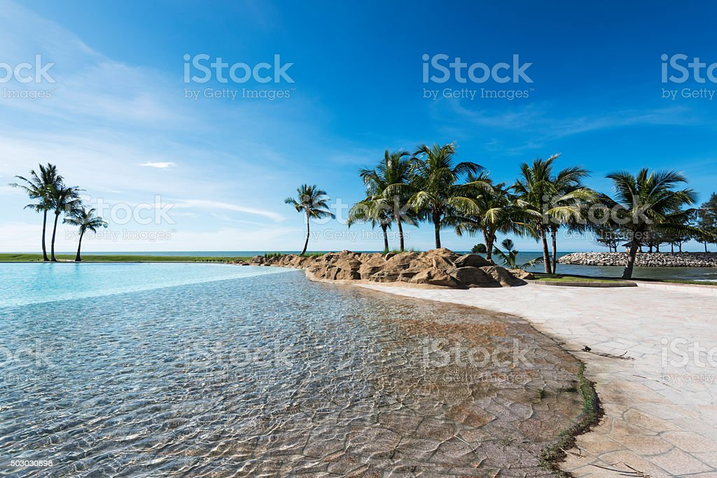 Tropical Island Beach stock photo