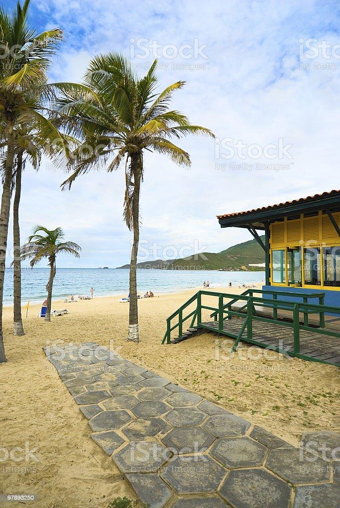 Tropical Island beach resort royalty-free stock photo