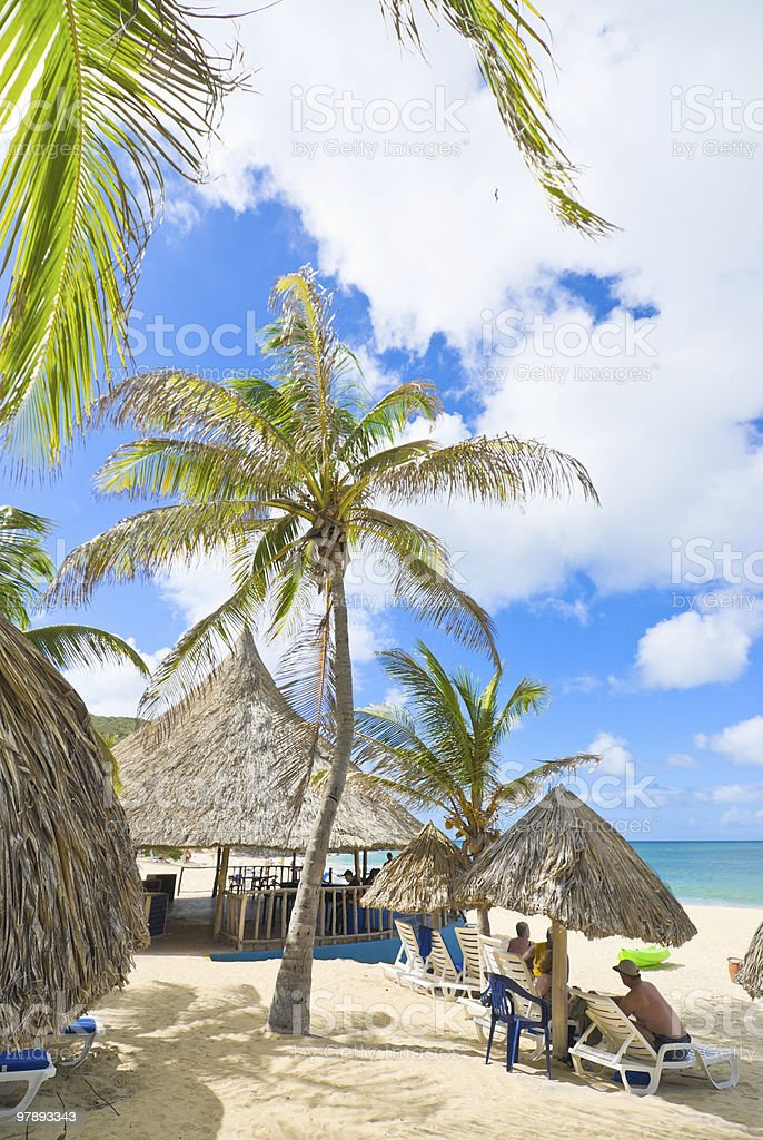 Tropical Island beach resort royalty-free stock photo