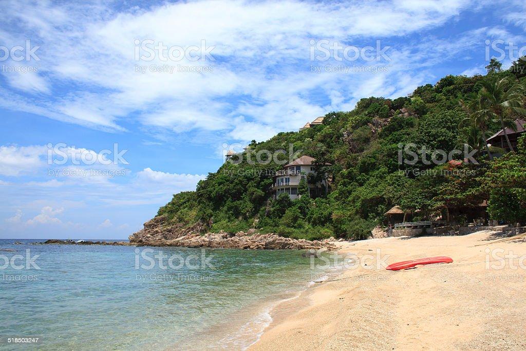 Tropical island coast stock photo