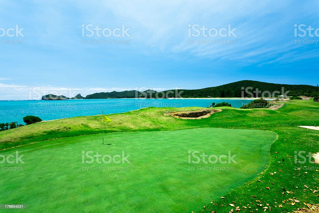 Tropical Island Golf Course royalty-free stock photo