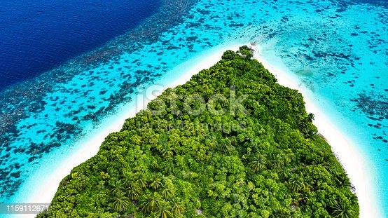 Tropical Island in the Ocean, Maldives