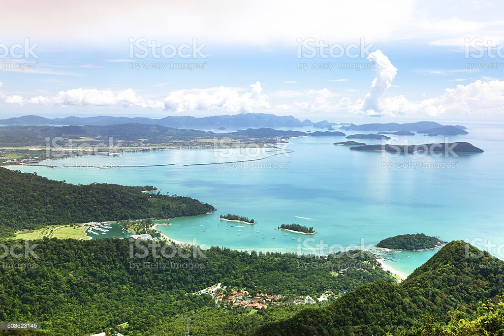 Tropical island landscape stock photo