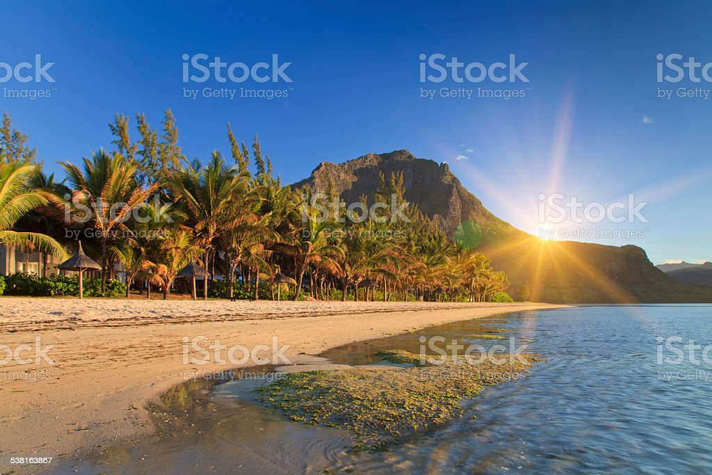 Tropical Island Beach Ambience Sound: Tropical Island Mauritius Stock Photo & More Pictures Of