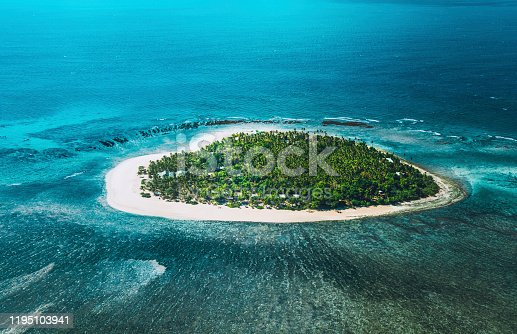 Remote tropical island in Fiji.