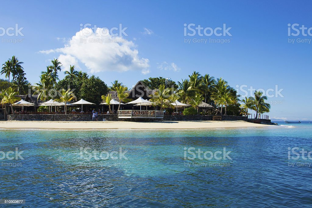 Tropical Island resort stock photo