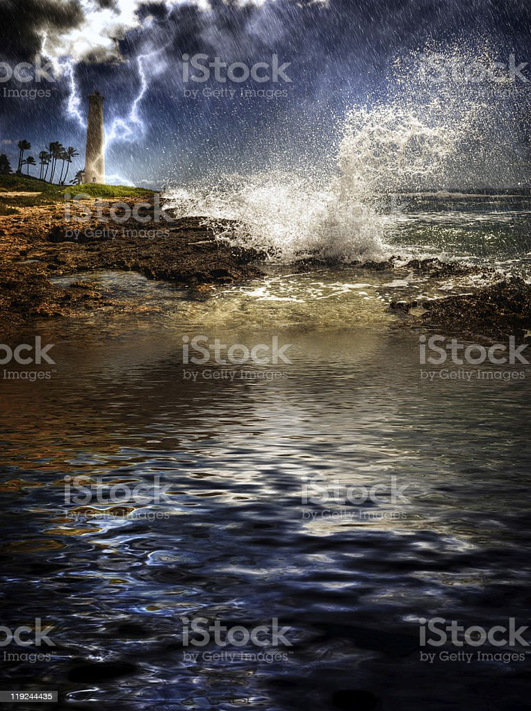 Tropical Island Storm royalty-free stock photo