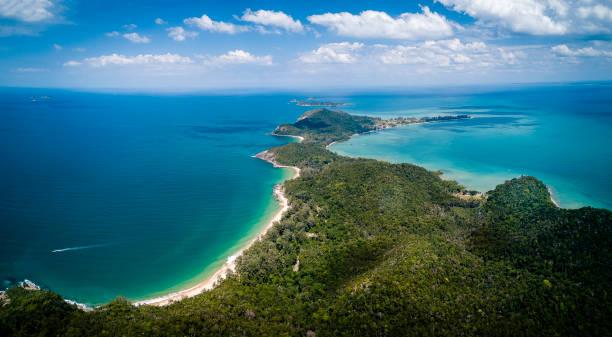 Tropical island view, Malaysia stock photo