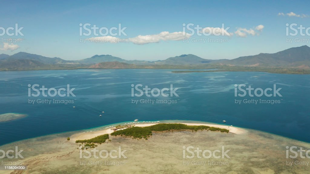 Tropical Island With Sandy Beach Palawan Philippines Stock Photo Download Image Now