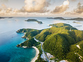 上から熱帯の島々