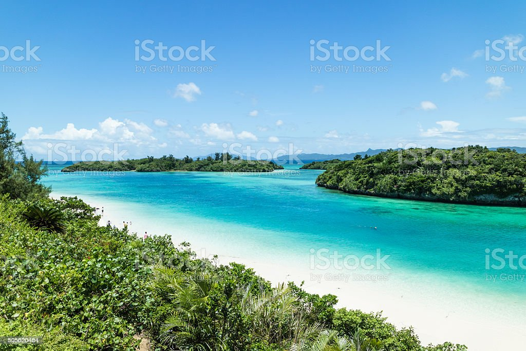 Tropical Japanese beach, Ishigaki Island, Okinawa stock photo