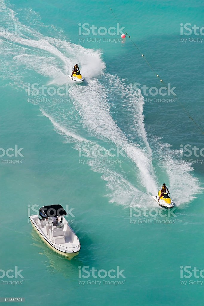 Tropical Jet Skis royalty-free stock photo