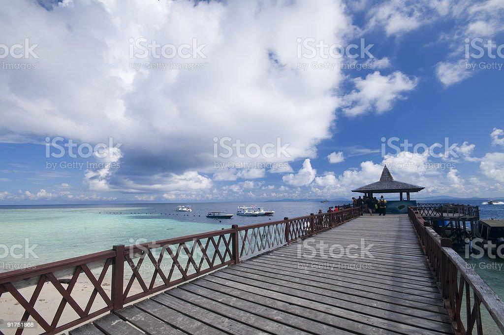 Tropical jetty royalty-free stock photo