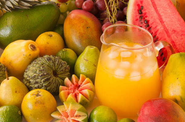 Tropical juice stock photo