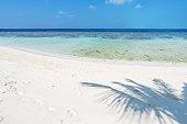 Tropical Lagoon And Sandy Beach