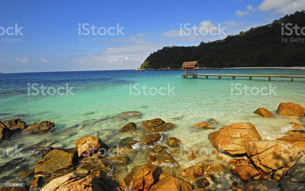 Tropical Lagoon royalty-free stock photo