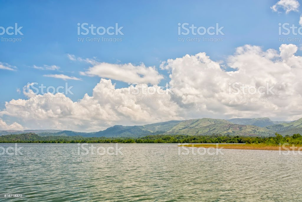 Tropical Lake Landscape stock photo