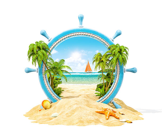 Tropical landscape in a helm – Foto