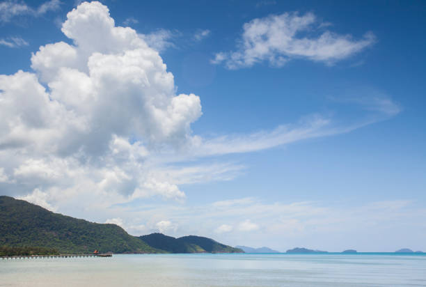 Tropical landscape with turquoise tropical sea on Koh Chang island in Thailand Tropical landscape with turquoise tropical sea on Koh Chang island in Thailand koh chang stock pictures, royalty-free photos & images