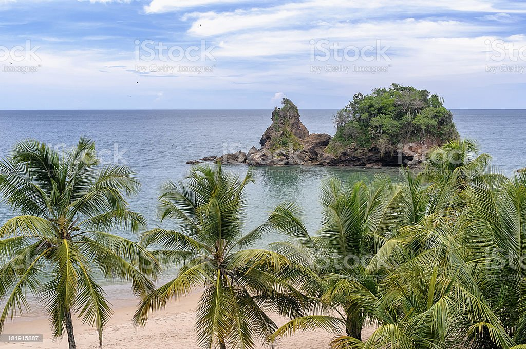 Tropical lonely beach stock photo
