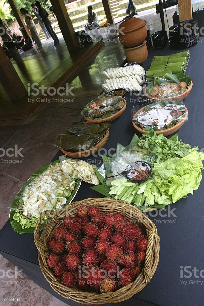 Tropical lunch royalty-free stock photo