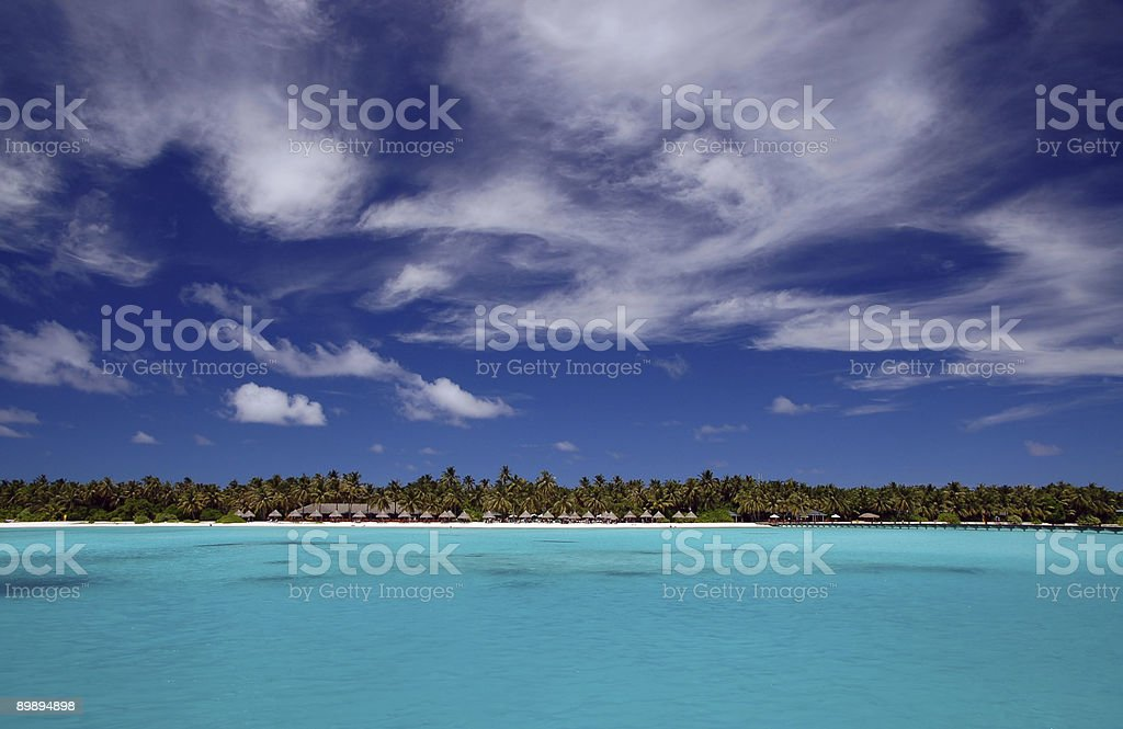 tropical maldivian beach royalty-free stock photo