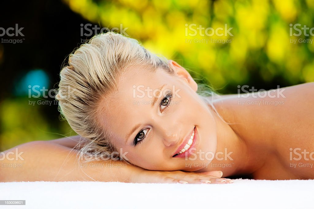 Tropical Massage royalty-free stock photo