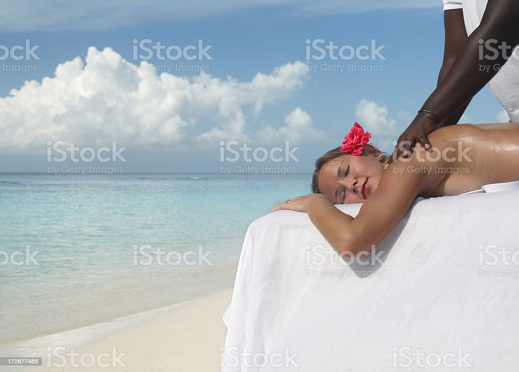 tropical massage stock photo