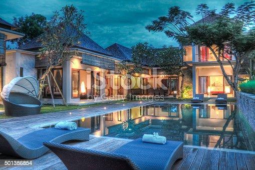 istock Tropical modern villa 501386854