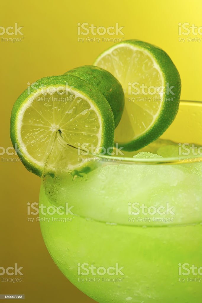 Tropical Night Cocktail royalty-free stock photo