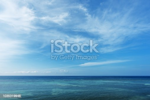 Tropical Ocean And Blue Sky Abstract Background