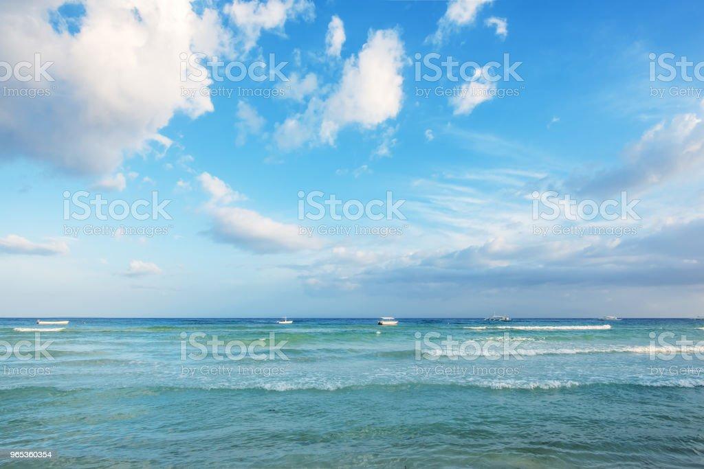 열 대 바다 일몰 풍경 - 로열티 프리 0명 스톡 사진