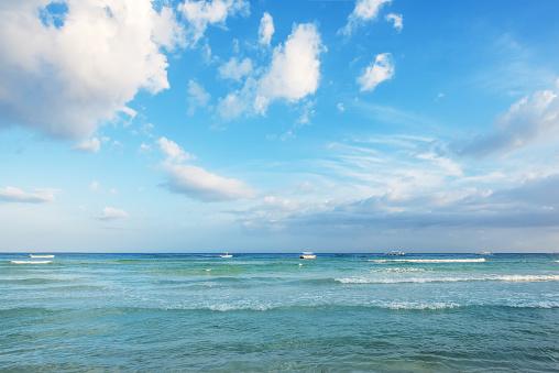 열 대 바다 일몰 풍경 0명에 대한 스톡 사진 및 기타 이미지