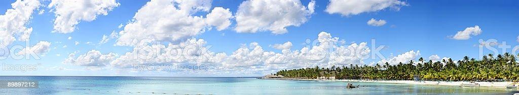 Tropische Panoramablick Lizenzfreies stock-foto