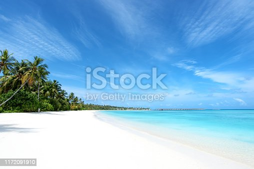 Tropical paradise beach of Maldives