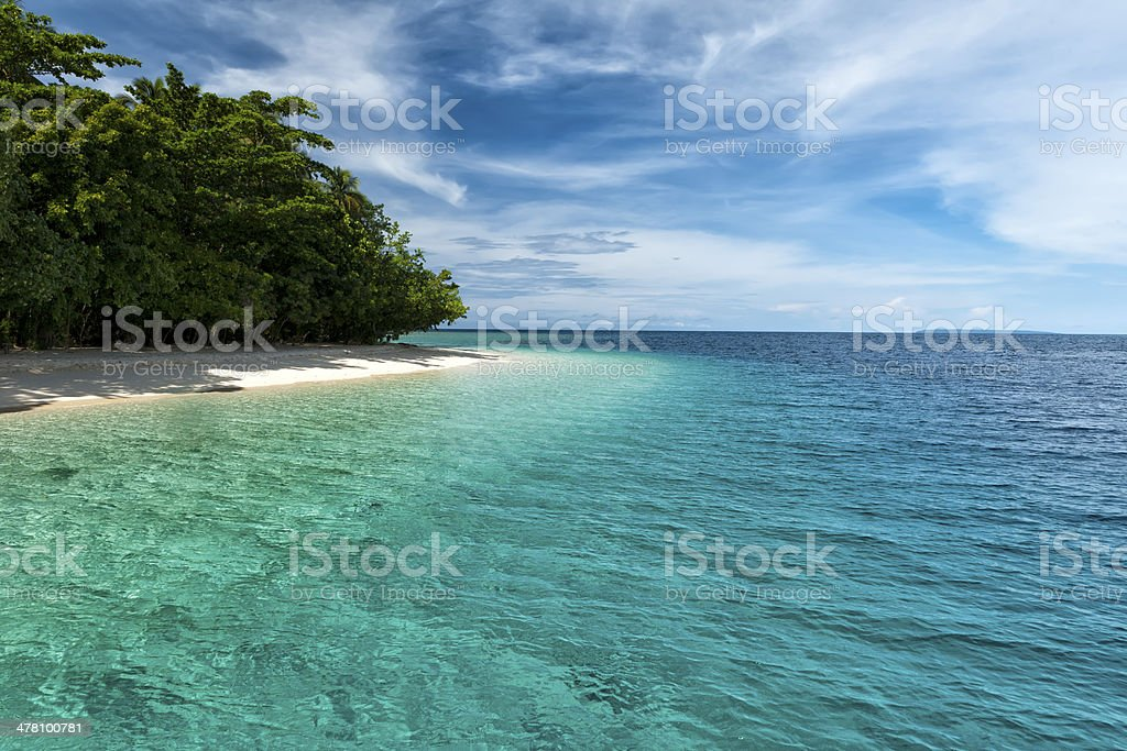 Tropical Paradise Crystal Water beach stock photo