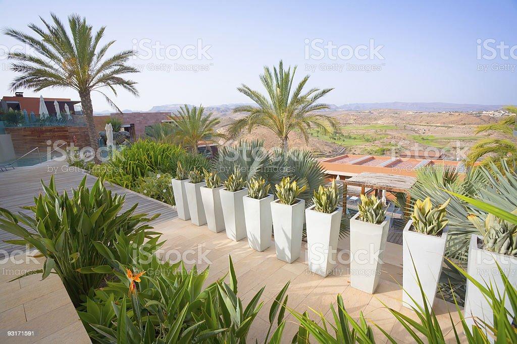 Tropical Paradise Garden stock photo