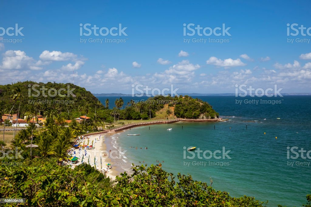 Tropical paradise on the island of Frades - foto de acervo
