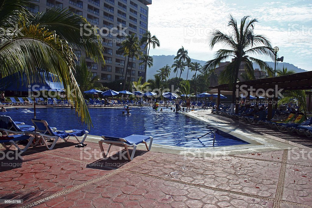 Tropical Paradise Pool Hawaii royalty-free stock photo
