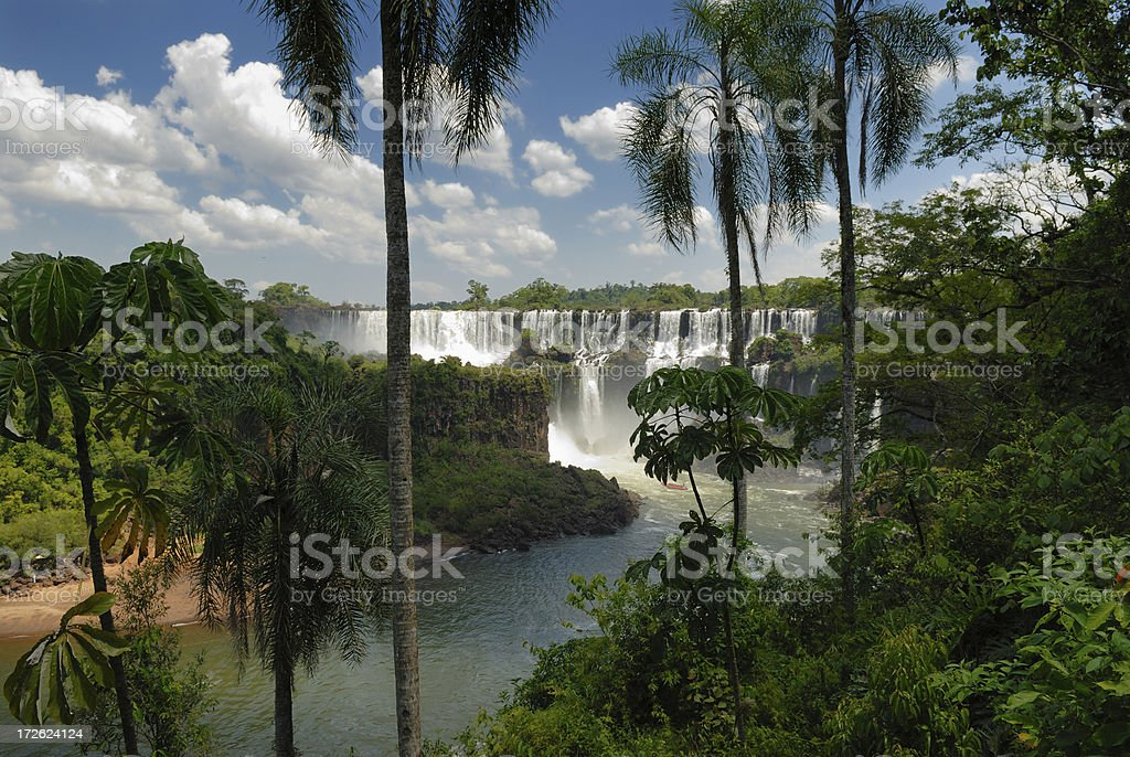 Tropical Paradise with Falls royalty-free stock photo