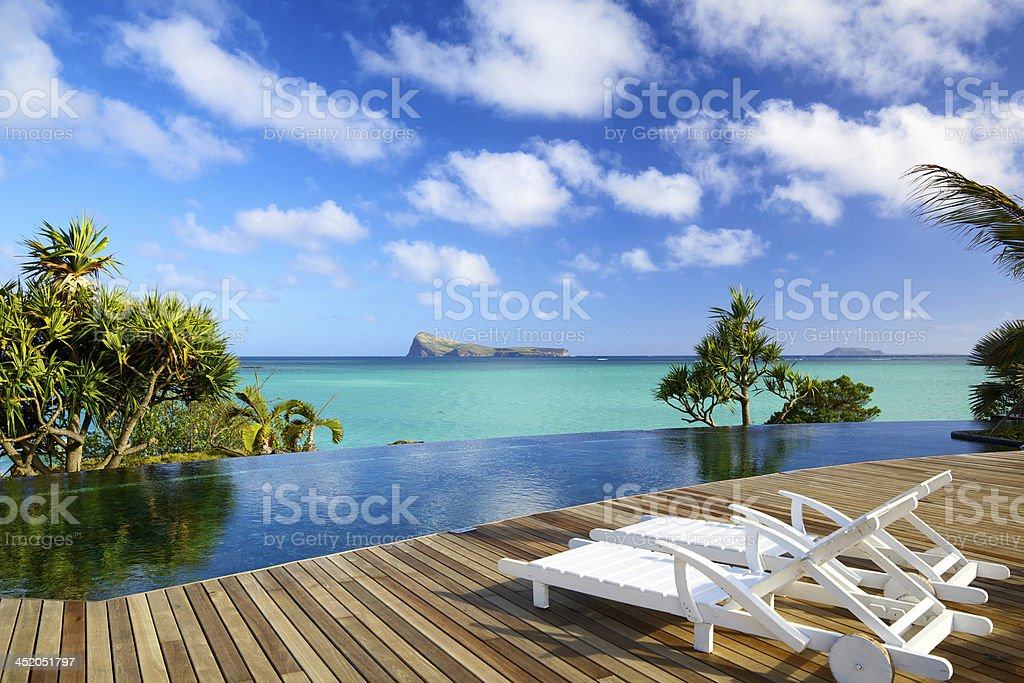 Tropical relax in Mauritius stock photo
