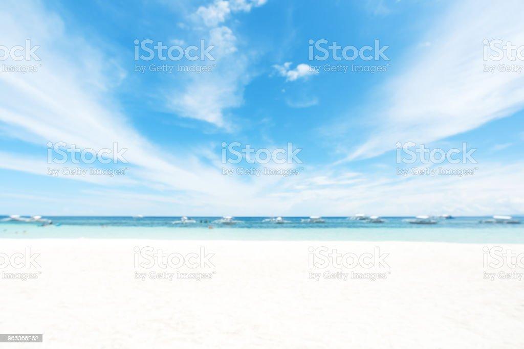 Tropical Resort Beach Blurred Abstract Background zbiór zdjęć royalty-free