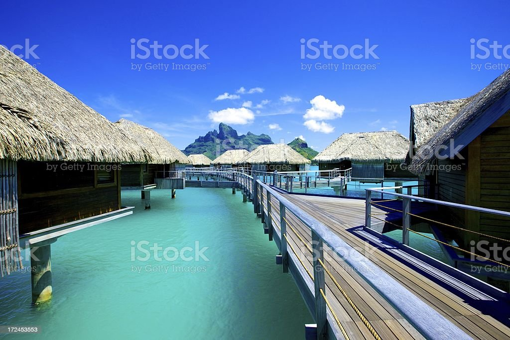 Tropical Resort in South Pacific royalty-free stock photo