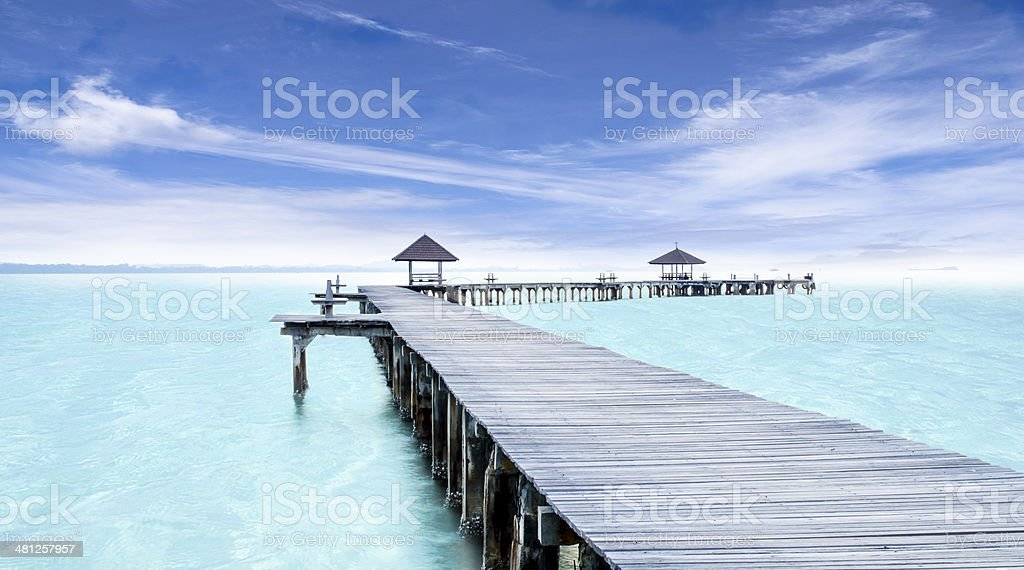 Tropical Resort. Jetty stock photo