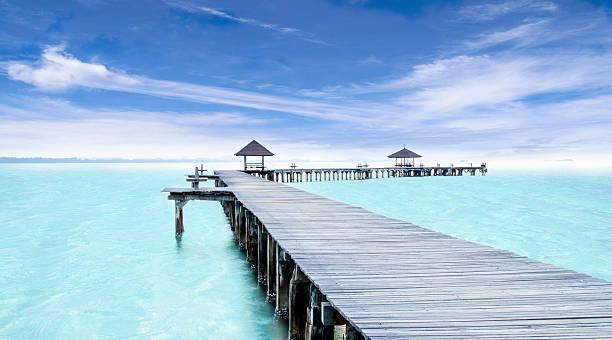 Tropical Resort. Jetty stock photo